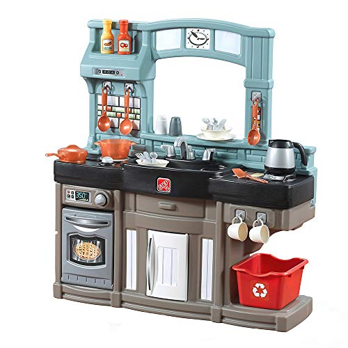 Step2 Best Chefs Kitchen Playset | Kids Play Kitchen with 25-Pc Accessory Set | Real Lights & Sounds (Best Childrens Play Kitchen)