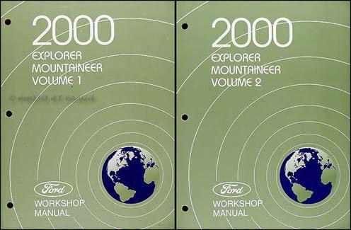 2000 Explorer and Mountaineer Repair Shop Manual Original 2 Volume Set