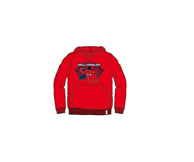 Amazon FELPA 3 SPIDERMAN Abbigliamento ROSSA CAPPUCCIO CON it Xw6Ug8