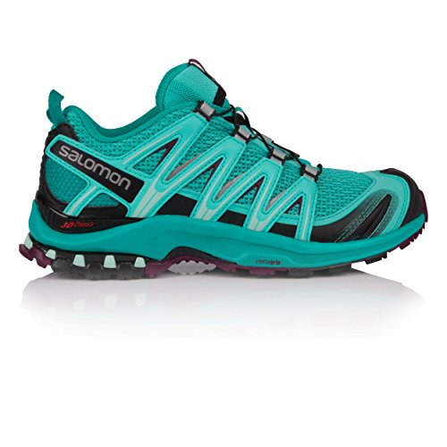 Salomon Women's XA Pro 3D Trail Running Shoes, Black, Synthetic/Textile Blue (Blue Curacao/Bluebird/Dark Purple 000)