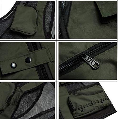C tasca Horse Uomo Vest Mesh Maschile Tool Pesca Da Autunno Gilet Abbigliamento Outdoor E Multi Clip BAZUa