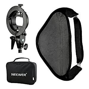 """Neewer Photo Studio Multifunctional 32x32""""/80x80cm Softbox with S-type Speedlite Flash Bracket Mount and Carrying Case for Portrait or Product Photography"""