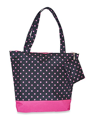 - J Garden Polka Dot Tote Bag (Black Pink)