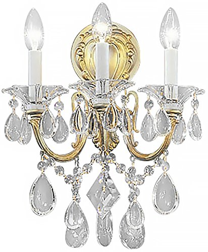 Classic Lighting 57003 CHP C Via Venteo, Crystal, Sconce/WallBracket, Champagne - Pearl Via Champagne Venteo