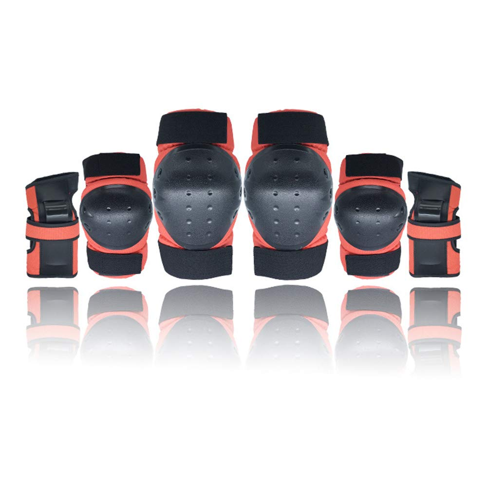 SLIVERS Children's Sports Protective Gear Skateboard Skating Helmet boy and Girl Protective Gear Set Knee Pads Wrist Elbow Four Sets
