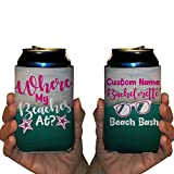 Custom Bachelorette Can Cooler- Where My Beaches At? - Beach Bash Bachelorette Theme Can Coolers (96)