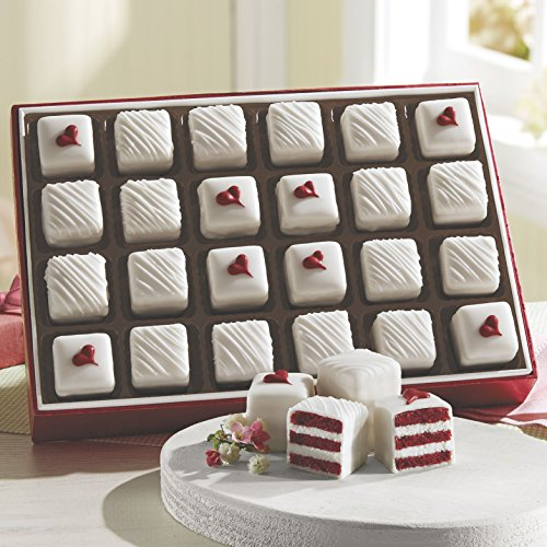 36 Piece Red Velvet Petits Fours from The Swiss Colony