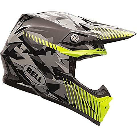 Bell Moto-9 Unisex-Adult Off Road Helmet (Yellow Camo, X-Large) (D.O.T.-Certified)