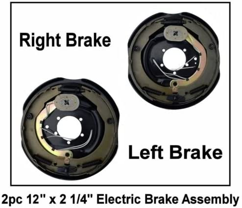 12 x 2 Trailer Brake Assembly Left Right 6000-7000 lb axle pair Electric New