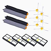 Replacement Accessories for iRobot Roomba 880 870 Vacuum Parts, including 4pcs Hepa Filter, 6pcs Side Brush, 4pcs Tangle-Free Debris Extractor(4 Filters +6 Side Brushes+ 2 Extractors)