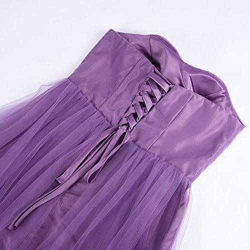 Lunghi Abiti Spalline Donna Chiaro iShine Elegante Vestito Cerimonia Sera Eleganti Abito Cocktail Senza Da Viola SwUFq