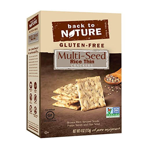 - Back to Nature Non-GMO Rice Thins, Gluten Free Multi-Seed, 4 Ounce