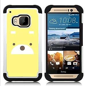 GIFT CHOICE / Defensor Cubierta de protección completa Flexible TPU Silicona + Duro PC Estuche protector Cáscara Funda Caso / Combo Case for HTC ONE M9 // Cute Bear //