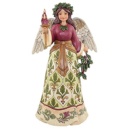 Enesco 4058755 Jim Shore Heartwood Creek Collection Victorian Angel with Candle Stone Resin Figurine, 9.5