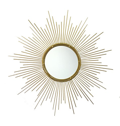 Decorative Starburst Mirror,Bathroom Mirrors Contemporary Metal Wall Hanging Mirror in Sunburst Shape (Drop Mirrors) MD102 by Meida