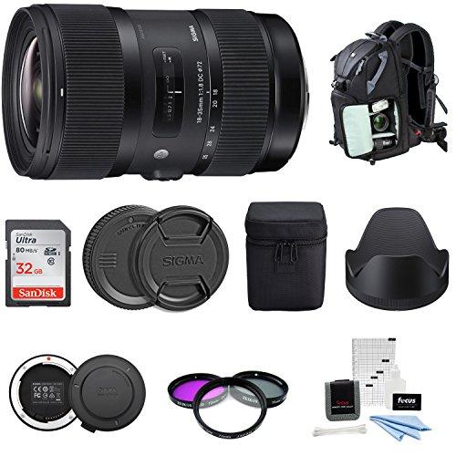 Sigma 18-35mm F1.8 Art DC HSM Lens for Canon DSLR Cameras (210101) USB Dock + 32GB SD Card & Advanced Photo & Travel - Art Lens Sigma Canon