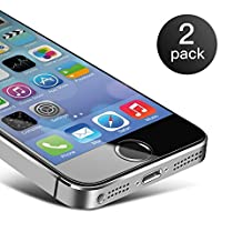 iPhone 5s Screen Protector, Edota 2-Pack 0.3mm Ultrathin Tempered Glass Premium High Definition (HD) / 9H Hardness / Explosion Proof Front Screen Protector Scratch Proof / Anti-Fingerprint Screen for iPhone SE/5s/5c/5