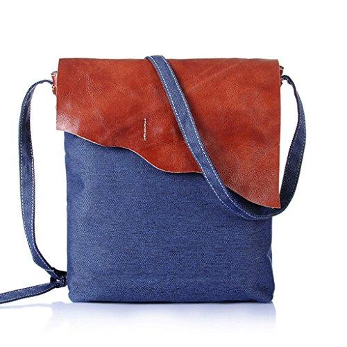 Sucastle Retro Tasche lässig Tasche Schultertasche Messenger Bag Tragetasche Sucastle Farbe: blau Größe: 30x24x5cm