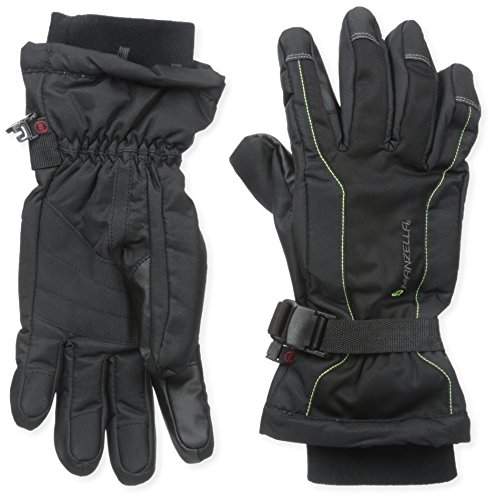 Manzella Liner Glove - Manzella Men's Fahrenheit 5 Touch Tip Ski Gloves, Black, Large