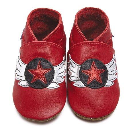 Inch Blue - 1798 XL - Chaussures Bébé Souples - Aviator - Rouge - T 22-23 cm - 18-24 mois