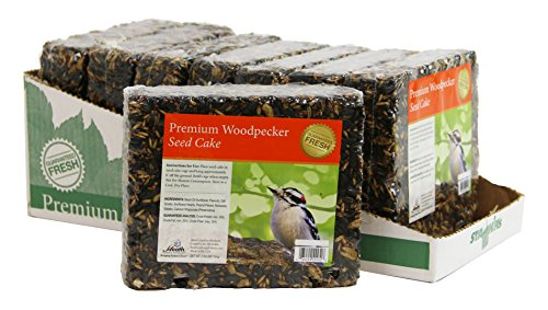 Heath Outdoor Products SC-32-8 Premium Woodpecker 2-Pound Seed Cake, Case of (Large Wild Bird)