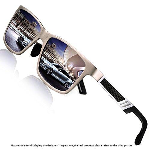 Rocknight Polarized UV Protection Men's Sunglasses Wayfarer Full Frame Silver Mirror Sunglasses Outdoor Fashion - Lenses Reflective Sunglasses