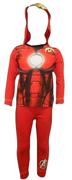 Iron Man Niños con capucha pijamas 2-3 años
