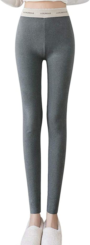 KEYIA Femmes Leggings Camouflage D/écontract/é Taille Haute Coupe Slim Couleur Unie Hiver Chaud Pantalons Sportswear