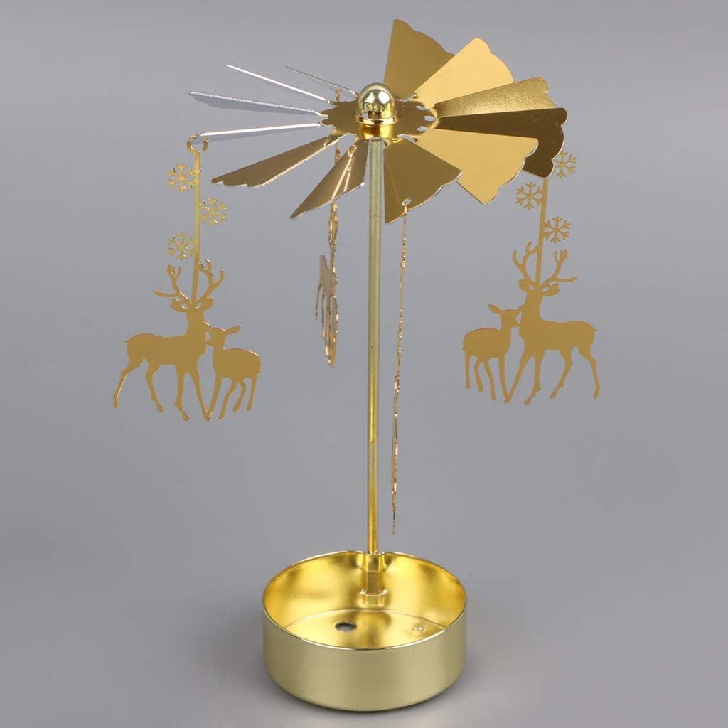 ATATMOUNT Tournant Rotatif carrousel th/é lumi/ère bougeoir Support lumi/ère Cadeau Mariage d/écor