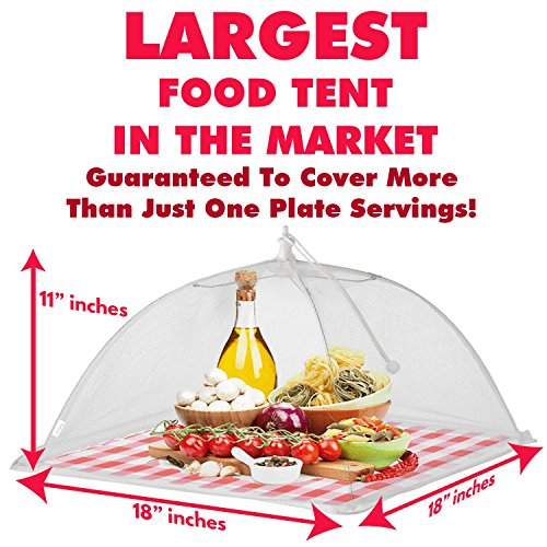 Food Tent Covers With FREE Picnic Table Cloth u2013 Premium 4 Pack Wind Proof Outdoor C&ing  sc 1 st  Importitall & Food Tent Covers With FREE Picnic Table Cloth u2013 Premium 4 - Import ...