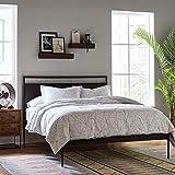 "Rivet Modern Wood Shelf, 3.5""H, Walnut"
