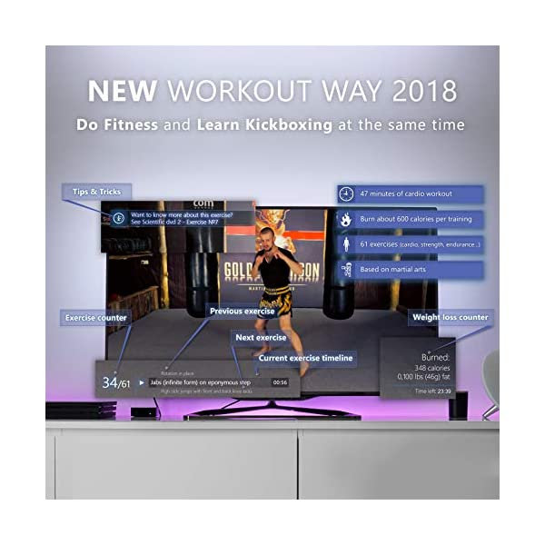 Kickboxing DVDs workout for women men 47 minutes - and Instructional kickbox Muay Thai video training 10 lessons 143 minutes - Cardio exercise - Way of The Warrior Step 1 Base technique - 2 in 1 2