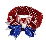 Highpot Baby Girls 4th Of July Hairband Headband With Big Hair Bow (Red)