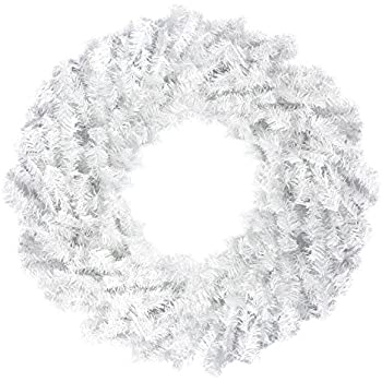 24 white canadian pine artificial christmas wreath unlit - White Christmas Wreath