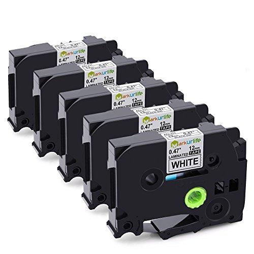 3-Pack 1//2inch x 26.2ft TZe335 TZ-335 Laminated Tapes 12mm for PT-200 PT-D210 PTD400AD PT-H100 PTD600 PT-P700 PT-2030 Label Maker Compatible Brother P-Touch Label Tape White on Black