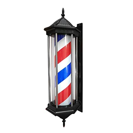 Retro Poste De Barbero Hexagonal Barber Pole 78Cm LED Barbero ...