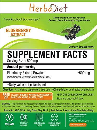 Elderberry 10:1 Extract Powder Boosts Immunity Promotes Cardiovascular Health (500 Gram)
