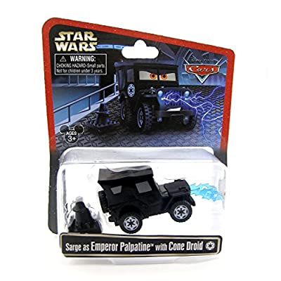 Disney Star Wars Pixar Cars Sarge as Emperor Palpatine with Cone Droid 1/55 Die-Cast Series 3 NEW 2015 Release: Toys & Games