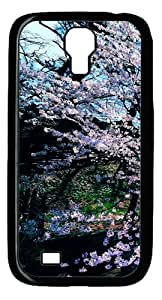 Samsung Galaxy S4 Case and Cover - Cherry Blossom Trees PC case Cover for Samsung Galaxy S4 SIV I9500-Black