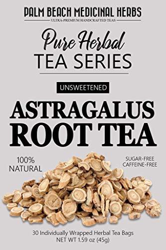 Astragalus Root Tea - Pure Herbal Tea Series by Palm Beach Medicinal Herbs (30 Tea Bags) 100% Natural
