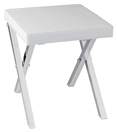 Taymor Industries 15.75 in. Folding Vanity Stool