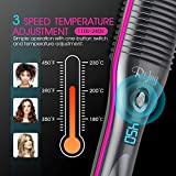 Hair Straightener Brush, Rifny Heated Hair