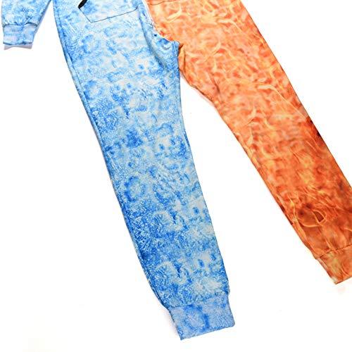 Leggings Della Per Famiglia Vendita Uomo Da Calda Pantaloni Tasche Stampato Degli Blu Tuta Con Adulto Abcone Pagliaccetto Lupo Indumenti 3d Notte BxSZFwaw