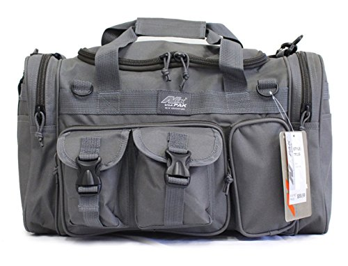 "18"" Mens Military Molle Tactical Gear Duffle Range Shoulder Strap Travel Bag TF118 GMG Gunmetal Grey"