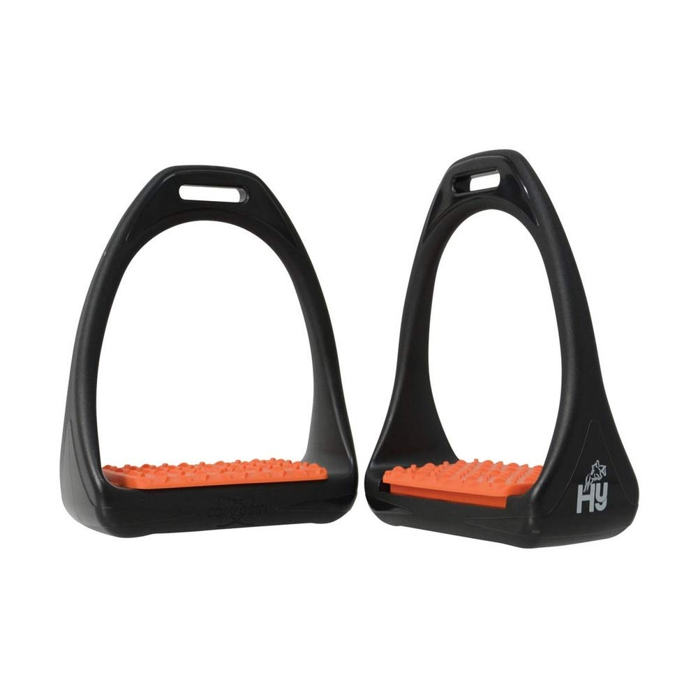 orange UK Size  One Size orange UK Size  One Size HyJUMP Compositi Reflex Stirrups with Coloured Treads