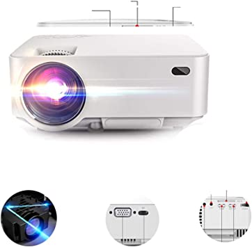 LFDD Mini proyector portátil con Pantalla de máx. 176