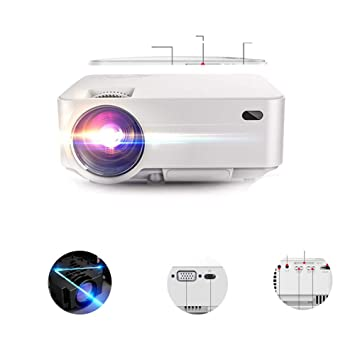 LFDD Proyector HD, 1080p LCD Video Proyector Full HD con 4500 ...