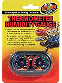 Zoo Med Economy Analog Dual Thermometer and Humidity Gauge, 6 x 4