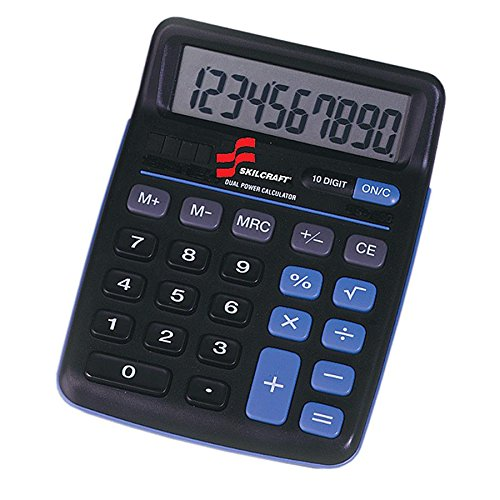 CALCULATOR,10-DIGIT,BLACK by Skilcraft