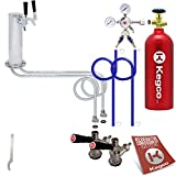 Kegco BF 2STCK-5T Standard 2 Product Tower Kegerator Conversion Kit with 5 lb Co2 Tank, Chrome